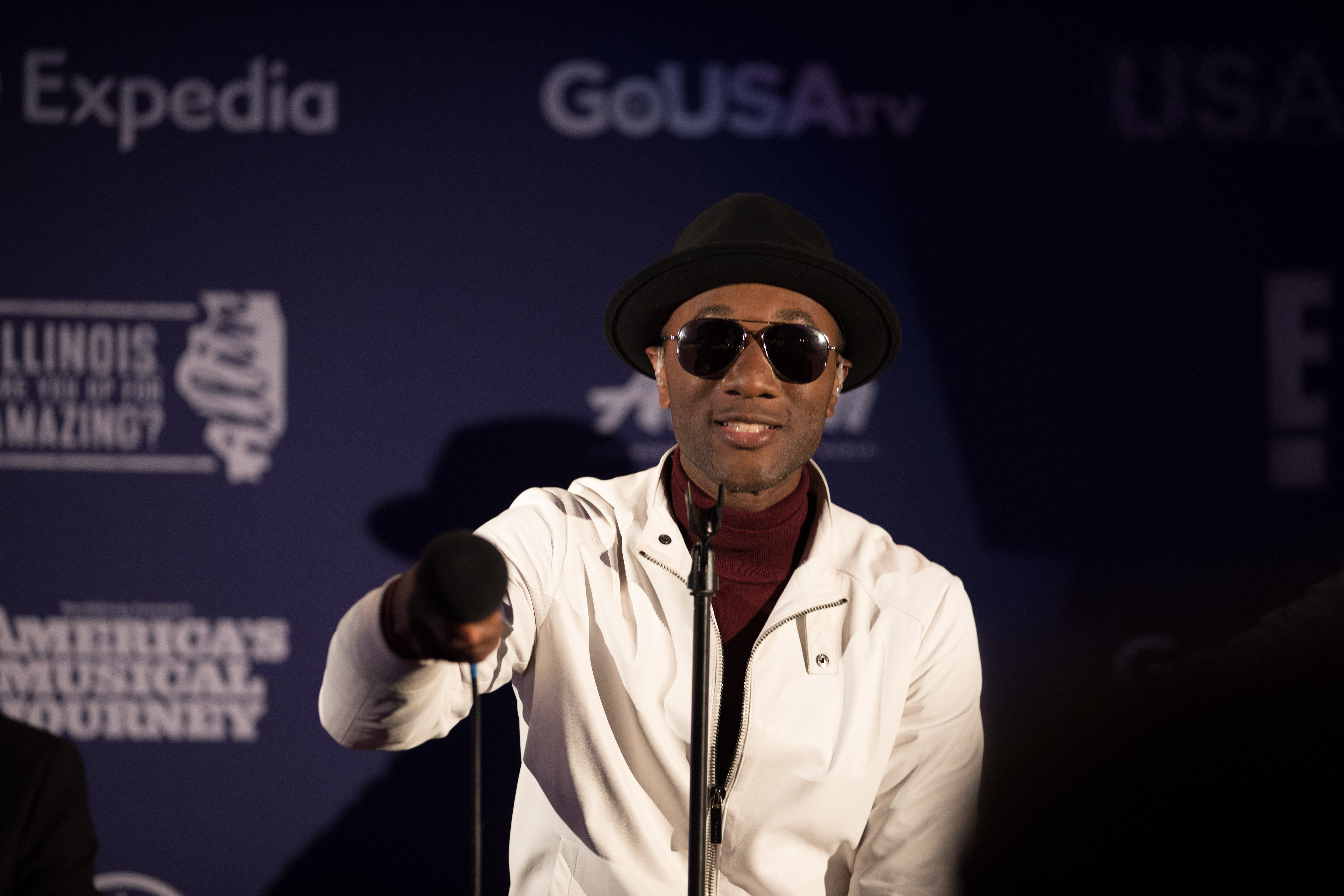 Aloe Blacc performing live at The Science Museum